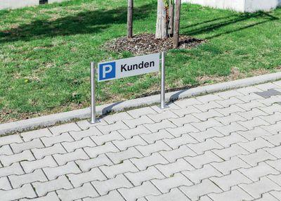 Kundenparkplatz Schild edel aus eloxiertem Aluminium