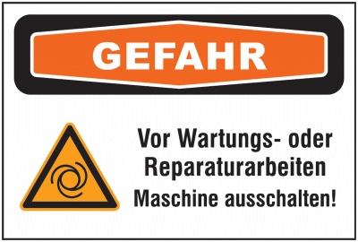 Maschinenaufkleber Mehrsymbol