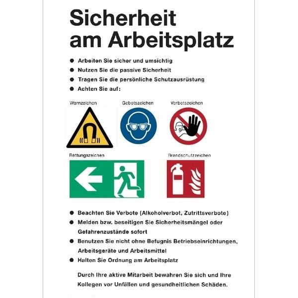 Betriebsaushang Sicherheit am Arbeitsplatz