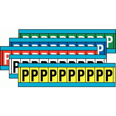Buchstaben und Ziffern auf Einzelkarten