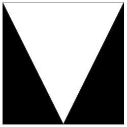 Form Dreieck Spitze unten