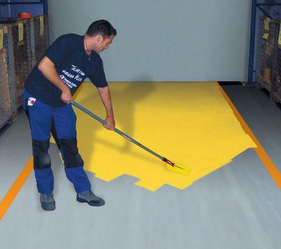 Kennzeichnung mit Hallenmarkierungsfarbe Gelb