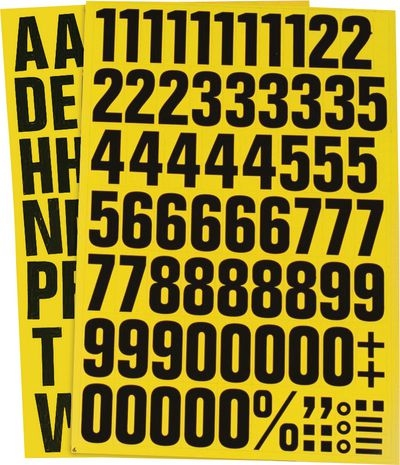Magnetische Buchstabenaufkleber