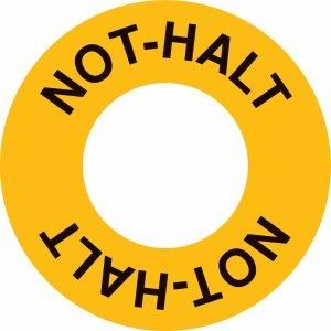 Not-Halt-Schilder