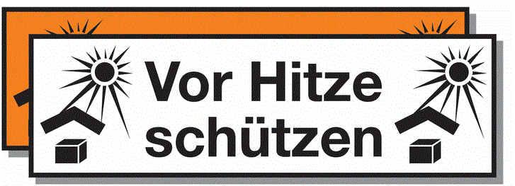 """""""Vor-Hitze-Schützen"""" Paketsymbol"""