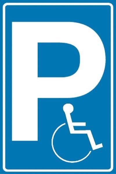 Parkschild Behindertenparkplatz