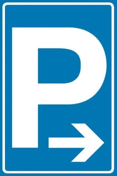 Parkplatz-Symbol, Pfeil nach rechts