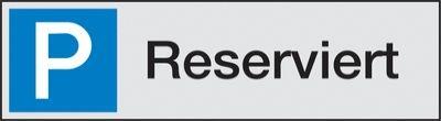 Reserviert Alu-Parkplatzschilder