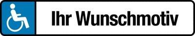 Behindertenparkplatz-Schilder Wunschmotiv / Firmenlogo