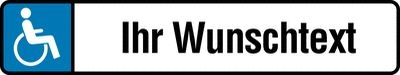 Behindertenparkplatz-Schilder Text nach Wunsch