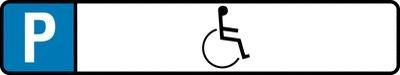 Behindertenparkplatz-Schilder Rollstuhlfahrer-Symbol
