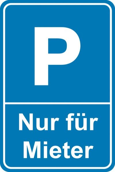 Anwohnerparkplatz Schild