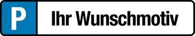 Parkplatz-Kennzeichen-Schilder Wunschmotiv / Firmenlogo