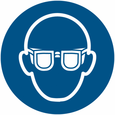 Gebotszeichen Augenschutz tragen