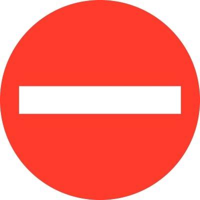 Symbolschilder für Durchgangsverbote