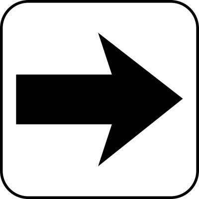 Symbolschilder zur Richtungsweisung