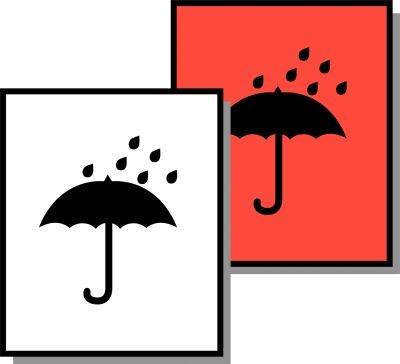 Symbol-Versandetiketten Vor Nässe schützen