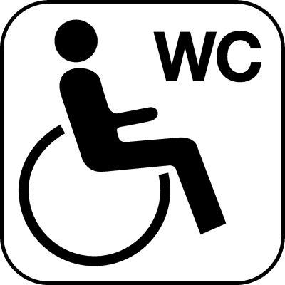 Piktogramme für Behinderten WC's