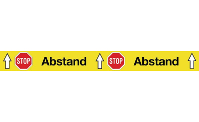 "Warnaufkleber ""STOP Abstand"""
