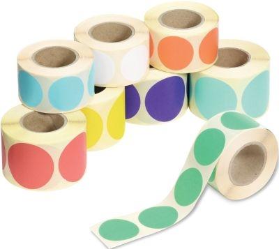 Blanko Klebepunkte aus Papier, auf Rolle