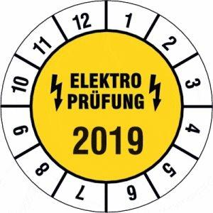 Elektro-Prüfplaketten Jahreszahl 4-stellig