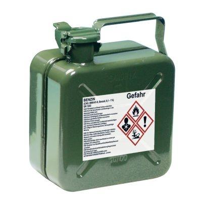 Gefahrstoffetikett für Benzin Kanister
