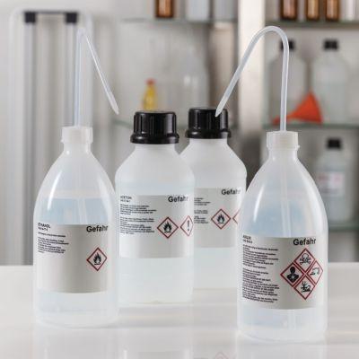 GHS-Label für Laborflaschen