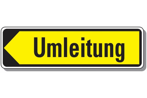 Hinweiszeichen Umleitung StVO Österreich