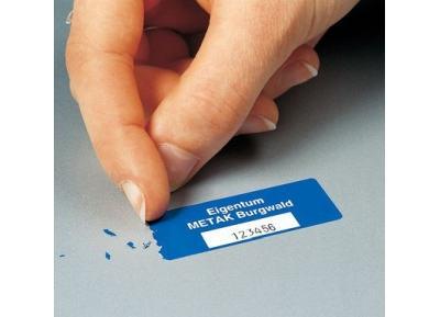 EasyMark Inventaretiketten, Standard, aus selbstzerstörender Dokumentenfolie Polyethylen