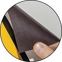 Kontrolletiketten aus Magnetfolie