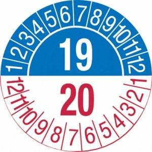 Mehrjahres-Prüfplaketten 'Jahreszahl, 2-stellig', SETON-Jahresfarben