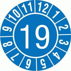 Prüfplaketten 'Jahreszahl, 2-stellig', SETON-Jahresfarben