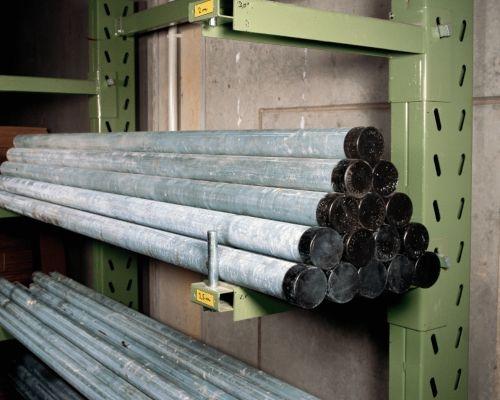 Rohrpfosten, aus feuerverzinktem Stahl