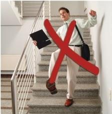Rutschgefahr auf der Treppe