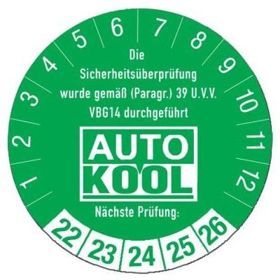 SETON individuelle Prüfplakette 'Auto Kool'