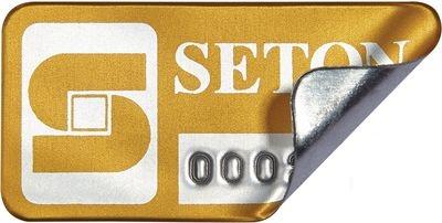 SetonGuard® Inventaretiketten, individuell, aus Aluminium