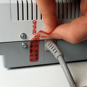 Sicherheits-Siegel, mit Übertragungsschutz