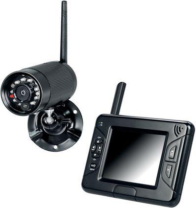 Überwachungskamera mit mobilem Monitor