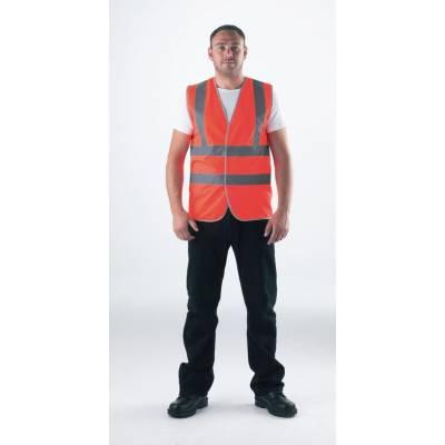 Warnweste orange-fluoreszierend