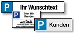 Auswahl Kennzeichen-Schilder
