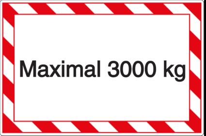 Vorlage: Maximal 3000 kg