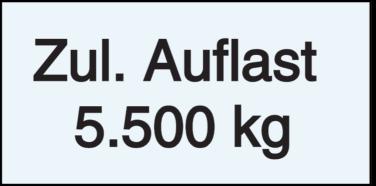 Vorlage: Zul. Auflast 5.000 kg