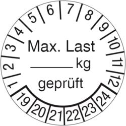 Max. Last ... kg geprüft