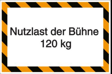 Vorlage: Nutzlast der Bühne 120 kg