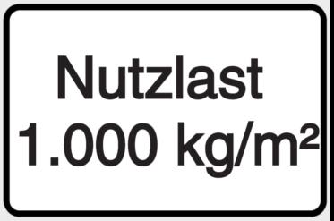 Vorlage: Nutzlast 1000 kg/m²