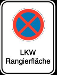 Vorlage: Absolutes Haltverbot - LKW-Rangierfläche