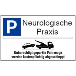 Vorlage: Parkplatz-Abschlepphinweis - Neurologische Praxis