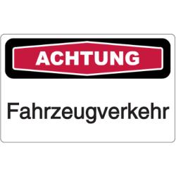 Vorlage: Achtung Fahrzeugverkehr