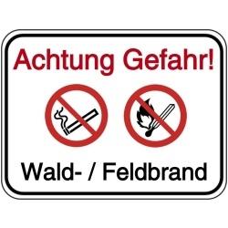 Vorlage: Achtung Gefahr! Wald- / Feldbrand
