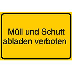 Vorlage: Müll und Schutt abladen verboten
